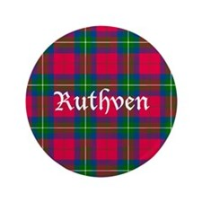 "Tartan - Ruthven 3.5"" Button (100 pack)"
