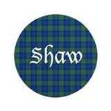 "Tartan - Shaw 3.5"" Button (100 pack)"