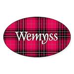 Tartan - Wemyss Sticker (Oval)