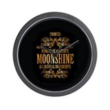 Moonshine label Wall Clock