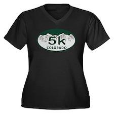 5K Colo Oval Women's Plus Size V-Neck Dark T-Shirt