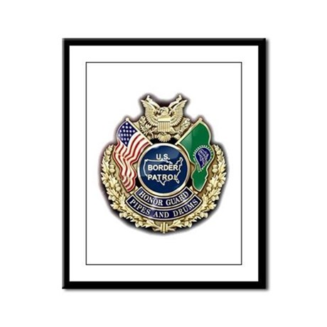 Border Patrol Honor Guard Framed Panel Print