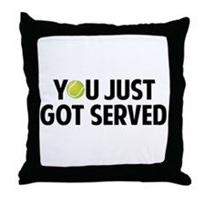 You just got served-Tennis Throw Pillow