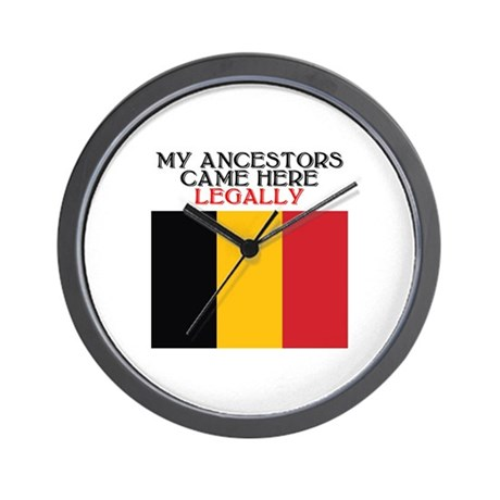 Belgian Heritage Wall Clock