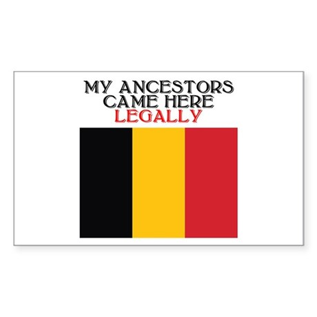 Belgian Heritage Rectangle Sticker