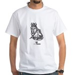 Mustang Horse White T-Shirt