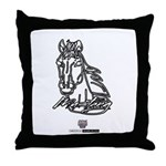 Mustang Horse Throw Pillow