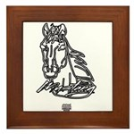Mustang Horse Framed Tile