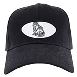 Mustang Horse Black Cap