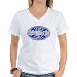 Skydive Midwest Women's V-Neck T-Shirt