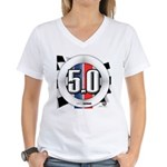 5.0 50 RWB Women's V-Neck T-Shirt