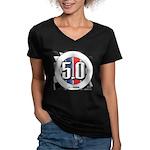 5.0 50 RWB Women's V-Neck Dark T-Shirt