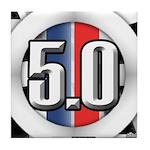 5.0 50 RWB Tile Coaster