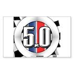 5.0 50 RWB Sticker (Rectangle)