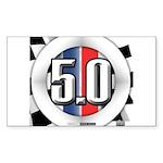 5.0 50 RWB Sticker (Rectangle 10 pk)