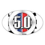 5.0 50 RWB Sticker (Oval)