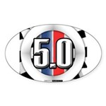 5.0 50 RWB Sticker (Oval 50 pk)