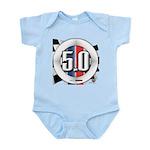 5.0 50 RWB Infant Bodysuit