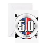 5.0 50 RWB Greeting Cards (Pk of 20)
