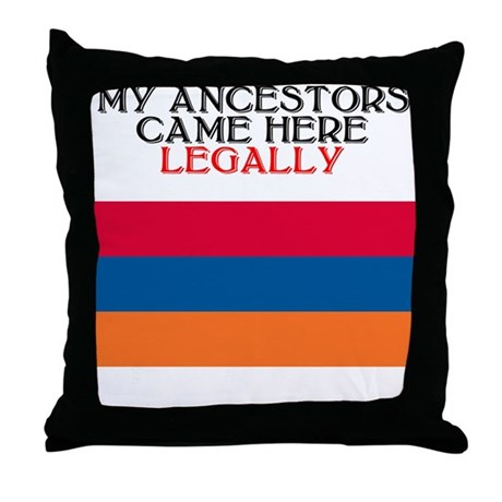 Armenian Heritage Throw Pillow