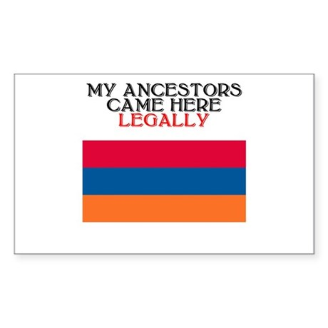 Armenian Heritage Rectangle Sticker