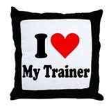 I Love My Trainer: Throw Pillow