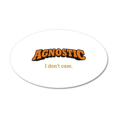 Agnostic / Care 22x14 Oval Wall Peel