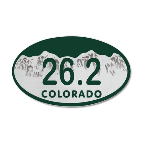 26.2 Colo License Plate 20x12 Oval Wall Decal