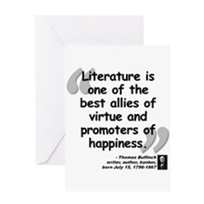 Bulfinch Happiness Quote Greeting Card