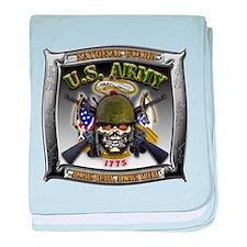 US Army National Guard Skull Framed baby blanket