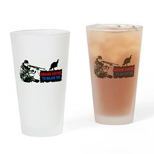 Cute Deer hunting Drinking Glass