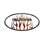 Firefighter Tribal Flames Patches