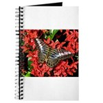 Butterfly on Red Flowers Journal