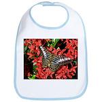 Butterfly on Red Flowers Bib