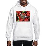 Butterfly on Red Flowers Hooded Sweatshirt