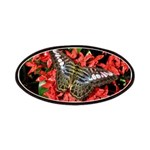 Butterfly on Red Flowers Patches