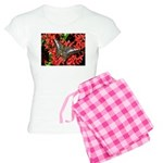 Butterfly on Red Flowers Women's Light Pajamas