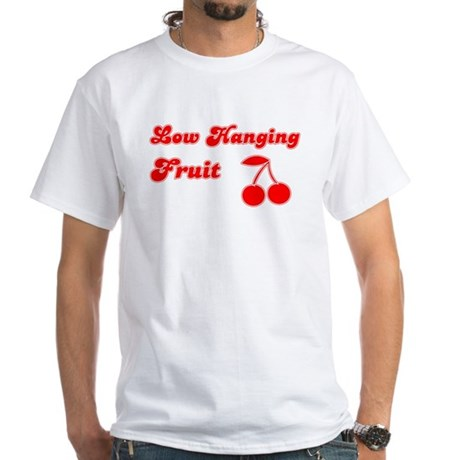 Low Hanging Fruit White T-Shirt
