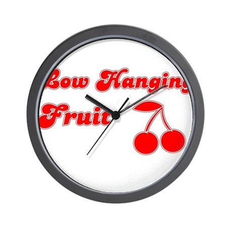 Low Hanging Fruit Wall Clock
