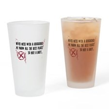 Geocaching - never mess dark red Drinking Glass