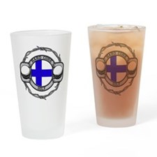 Finland Golf Drinking Glass