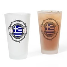 Greece Baseball Drinking Glass