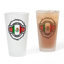 Mexico Boxing Drinking Glass