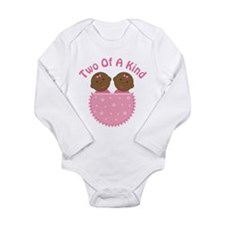 Twin Girls Ethnic Cute Long Sleeve Infant Bodysuit