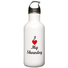 I Love My Showdog Water Bottle