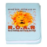 Never Quit, Never Give up, Always ROAR baby blanke