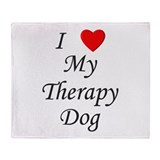 I Love My Therapy Dog Throw Blanket