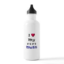I Love My Mutt Water Bottle