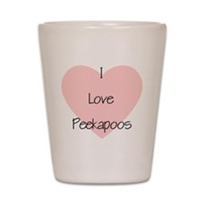 I Love Peekapoos (2) Shot Glass