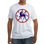 No Democrats (Donkeys) Fitted T-Shirt